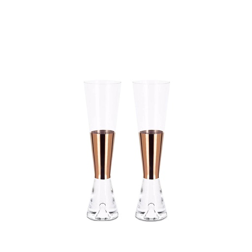 Tank Champagne Glasses, Set of 2