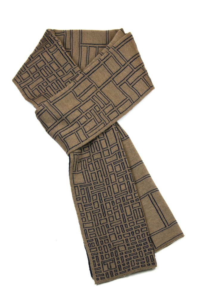 Thesis Scarf, Navy/Camel