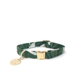 [FSND02900] Monstera Printed Dog Collar